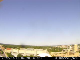 Latest west-facing rooftop camera image.